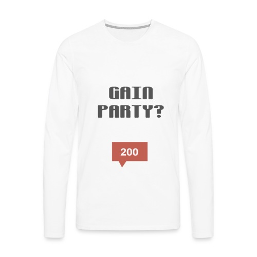 ULTIMATE GAIN PARTY COLLECTION 2017 - Men's Premium Long Sleeve T-Shirt