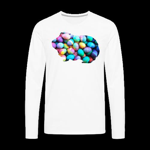 Easter Egg Guinea Pig - Men's Premium Long Sleeve T-Shirt