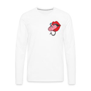 Hooked Tongue - Men's Premium Long Sleeve T-Shirt