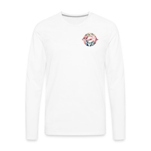 Logo Floral Heart - Men's Premium Long Sleeve T-Shirt