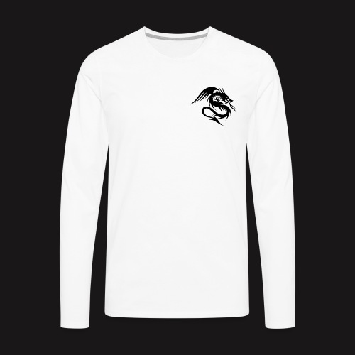 Dragon with stealth - Men's Premium Long Sleeve T-Shirt