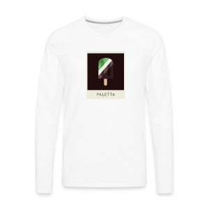 Mint Chocolate Polaroid - Men's Premium Long Sleeve T-Shirt