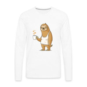 Monday Morning Depresso - Men's Premium Long Sleeve T-Shirt