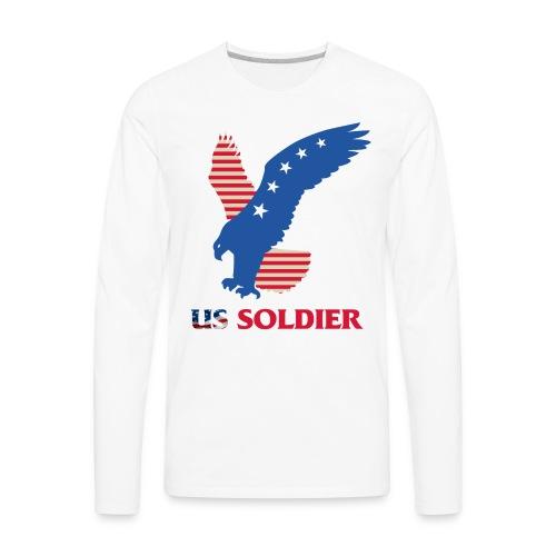 US Soldier Art Design - Men's Premium Long Sleeve T-Shirt