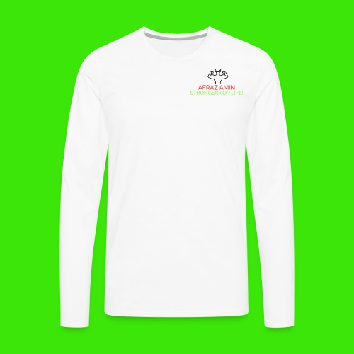 Afraz Amin - Stronger For Life - Men's Premium Long Sleeve T-Shirt