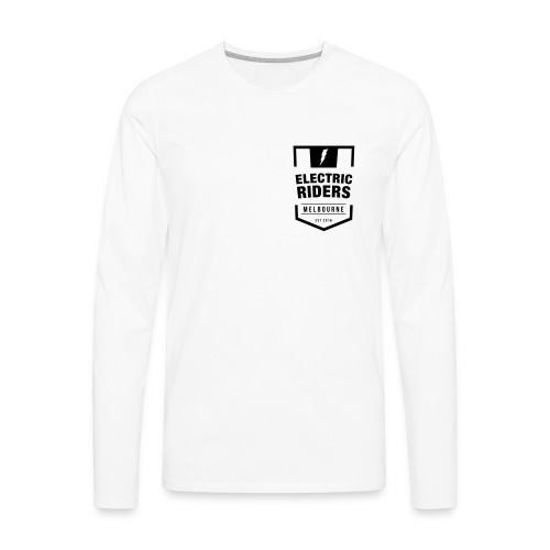 Electric Riders Melbourne - Logo Small Black - Men's Premium Long Sleeve T-Shirt