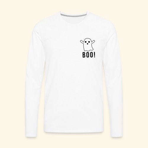 cute ghost boo - Men's Premium Long Sleeve T-Shirt