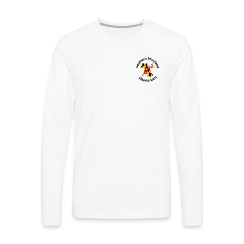 SOMD Libertarians Logo Outlined Bell No Shadow T - Men's Premium Long Sleeve T-Shirt