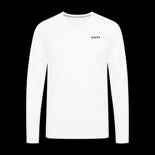 Oont Plain White Tee - Men's Premium Long Sleeve T-Shirt