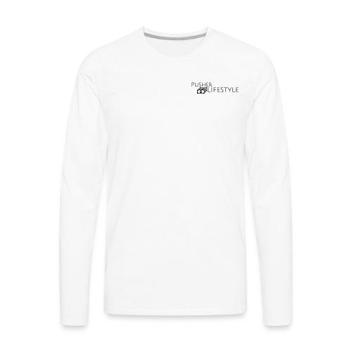 beginning pusher lifestyle - Men's Premium Long Sleeve T-Shirt