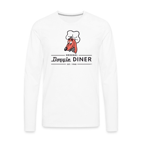 Doggie Diner Logo 1 with NO back color - Men's Premium Long Sleeve T-Shirt
