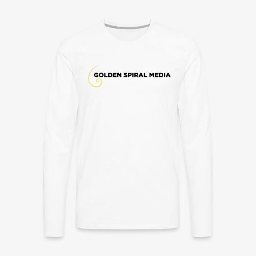 Golden Spiral Media Black Logo - Men's Premium Long Sleeve T-Shirt