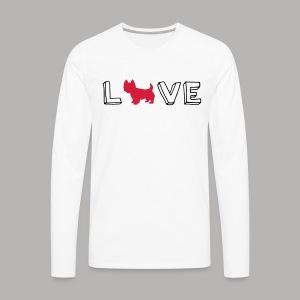 Westie Love - Men's Premium Long Sleeve T-Shirt