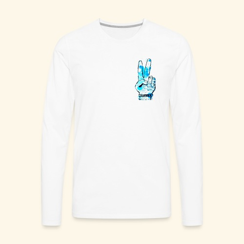 peace blues - Men's Premium Long Sleeve T-Shirt