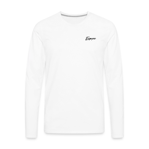 Exposure Long Sleeve cursive - Men's Premium Long Sleeve T-Shirt