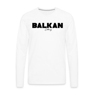 Original Balkan Clothing. Logo - Men's Premium Long Sleeve T-Shirt