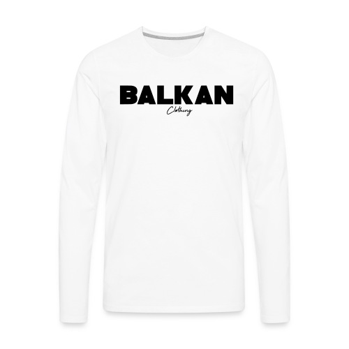 Original Balkan Clothing. Logo - Men's Premium Long Sleeve T-Shirt