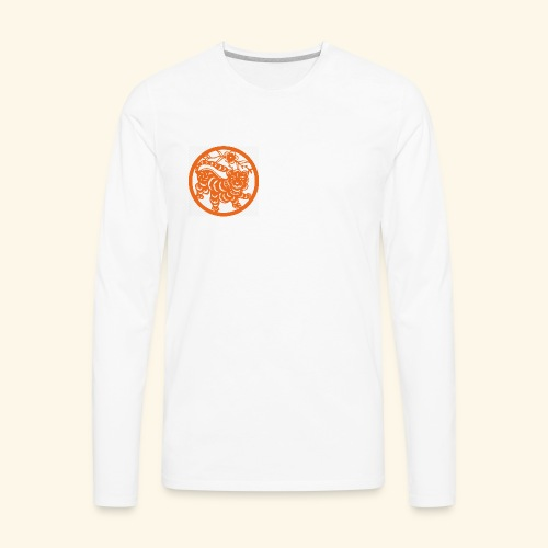 asian tiger - Men's Premium Long Sleeve T-Shirt