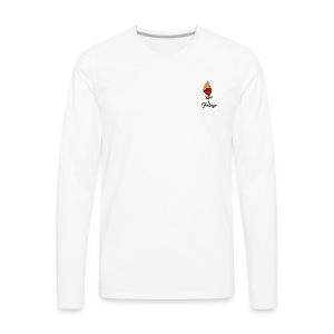 Fuaygo flaming rose logo - Men's Premium Long Sleeve T-Shirt