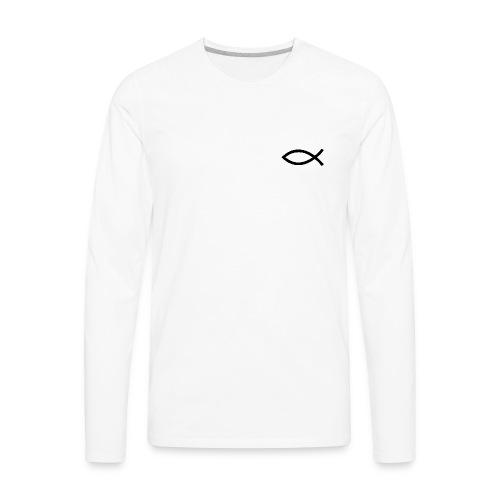 Christian Fish Symbol - Men's Premium Long Sleeve T-Shirt