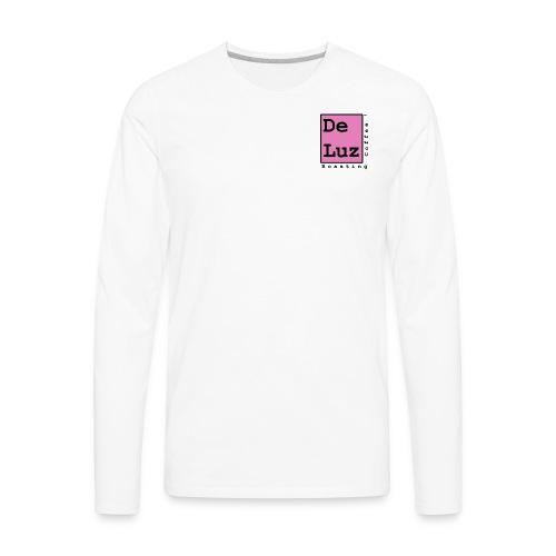 De Luz Coffee pink logo - Men's Premium Long Sleeve T-Shirt