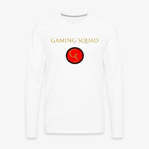Channel Logo with Gaming Squad text - Men's Premium Long Sleeve T-Shirt