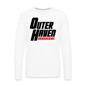 Outer Haven Black Large Logo - Men's Premium Long Sleeve T-Shirt