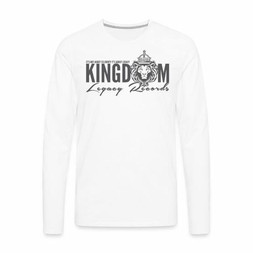 KINGDOM LEGACY RECORDS LOGO MERCHANDISE - Men's Premium Long Sleeve T-Shirt