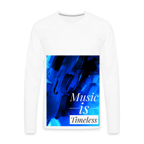 BANKHEAD VIOLINIST Music Is Timeless Original - Men's Premium Long Sleeve T-Shirt