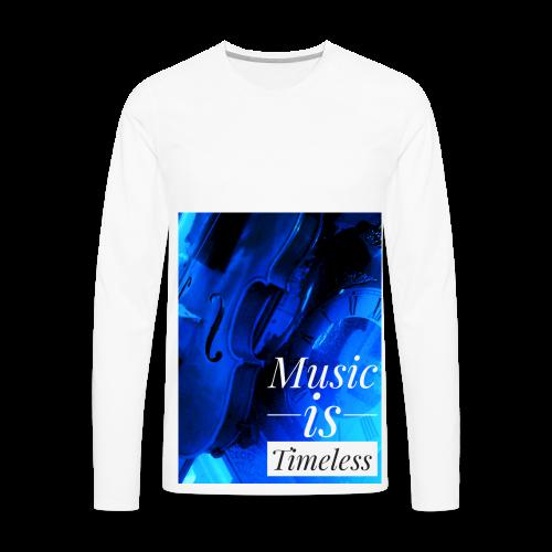 BANKHEAD VIOLINIST Music Is Timeless Original - Men's Premium Long Sleeve T-Shirt