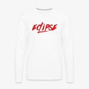 Red Plain Eclipse - Men's Premium Long Sleeve T-Shirt