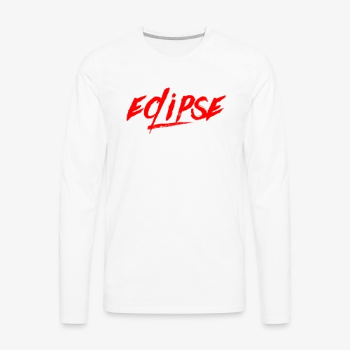 Red Plain Eclipse - Men's Premium Long Sleeve T-Shirt