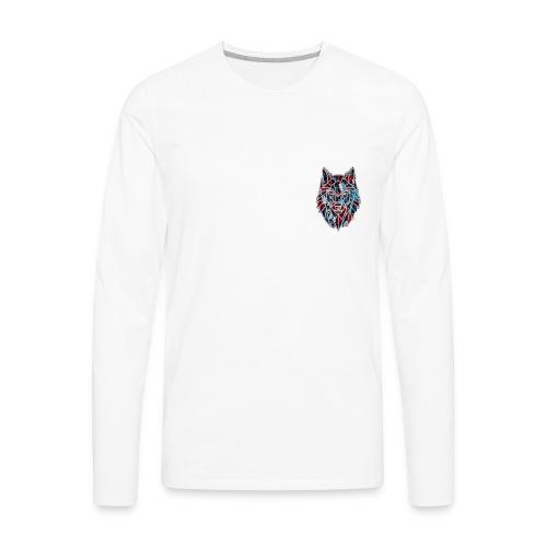 Red blue wolf merch - Men's Premium Long Sleeve T-Shirt
