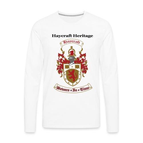 haycraftcrest - Men's Premium Long Sleeve T-Shirt