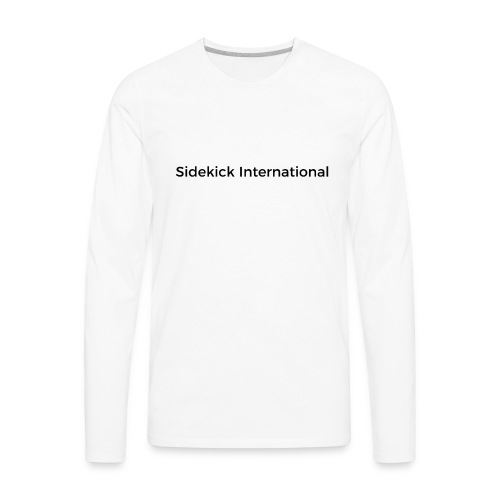 Sidekick International Logo (Black) - Men's Premium Long Sleeve T-Shirt
