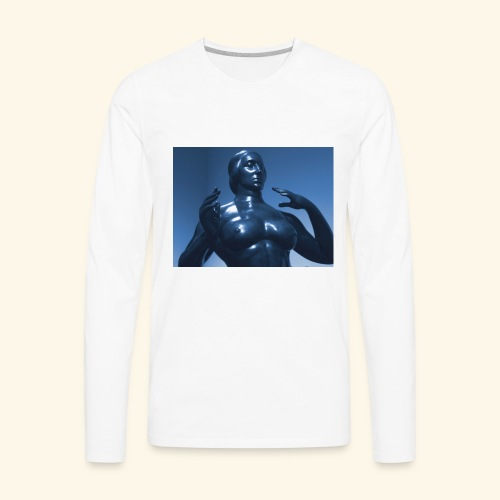Nude Blu - Men's Premium Long Sleeve T-Shirt