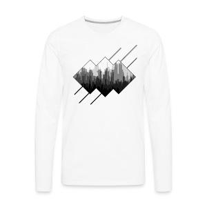 BLACK AND WHITE CITY - T-shirt Premium à manches longues pour hommes