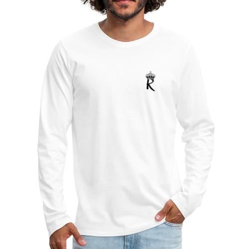 R with Crown - Men's Premium Long Sleeve T-Shirt