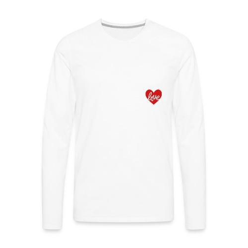 Love In My Heart - Men's Premium Long Sleeve T-Shirt