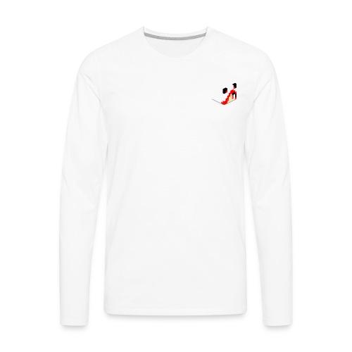 IFlameKitten's Head - Men's Premium Long Sleeve T-Shirt