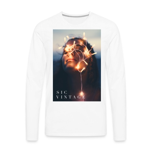 SicVintage Beauty in the Lignts - Men's Premium Long Sleeve T-Shirt
