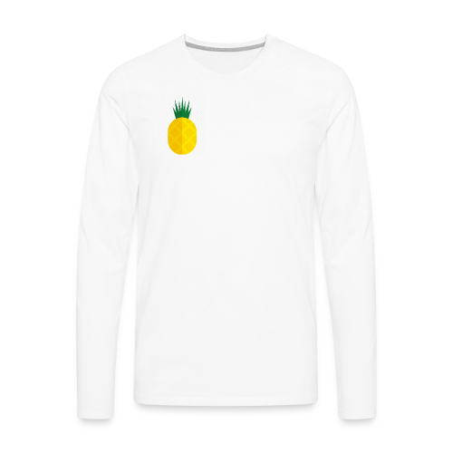 Pixel looking Pineapple - Men's Premium Long Sleeve T-Shirt