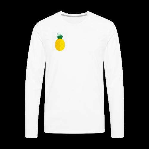 Pixel looking Pineapple - Men's Premium Long Sleeve T-Shirt