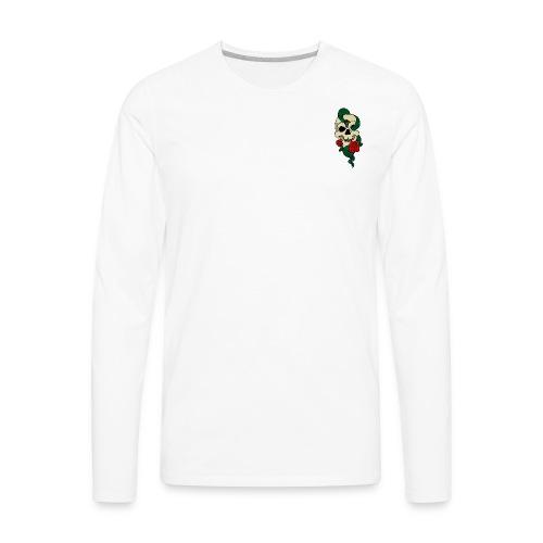 Skull and rose - Men's Premium Long Sleeve T-Shirt