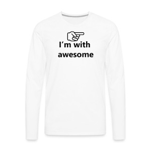 I'm With Awesome Black - Men's Premium Long Sleeve T-Shirt