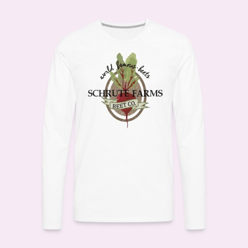 Schrute Farms - World Famous Beets - The Office - Men's Premium Long Sleeve T-Shirt