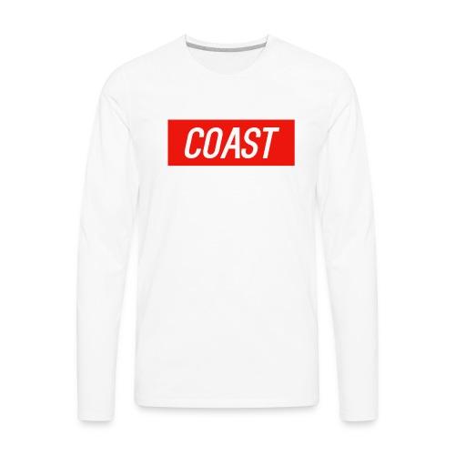 Coast (Red Box Design) - Men's Premium Long Sleeve T-Shirt
