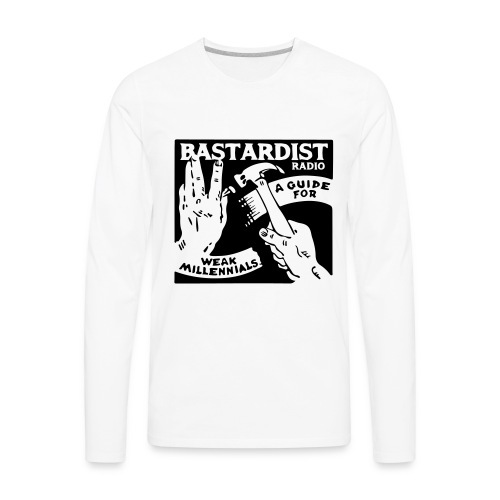 Bastardist Radio Block - Men's Premium Long Sleeve T-Shirt
