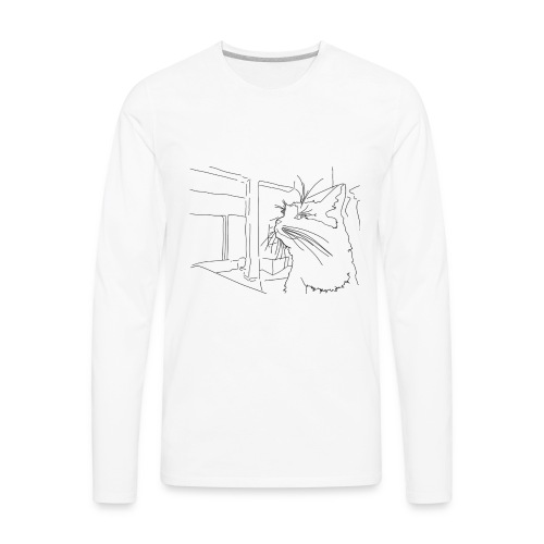 Sassy Cat-chan - Men's Premium Long Sleeve T-Shirt