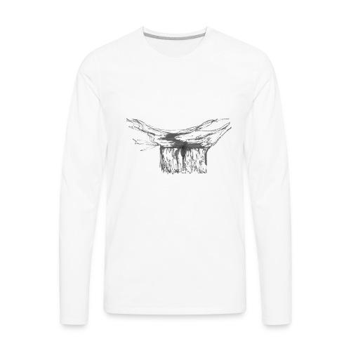 Waterfall single line2 - Men's Premium Long Sleeve T-Shirt
